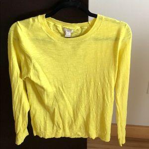 JCREW Bright Yellow Lightweight Sweater